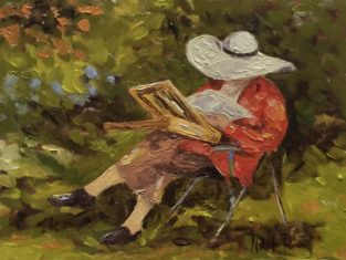 Painting Of Seated Lady Painting