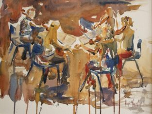 Watercolour Painted At The Nelson Centre For Musical Arts