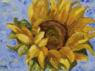 Sunflower Oil Painting On Board