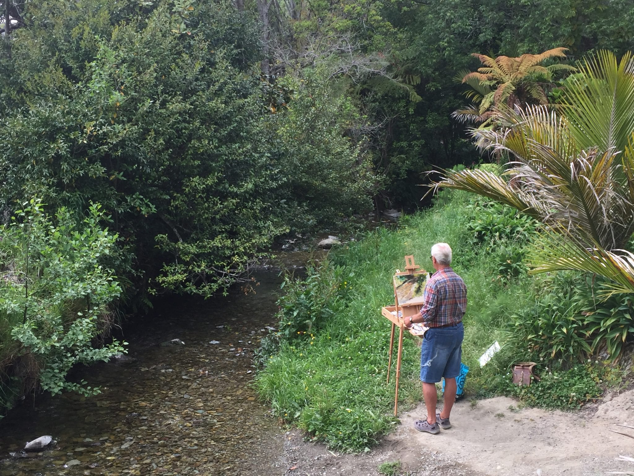 Plein Air Painting, Photos From Isel House