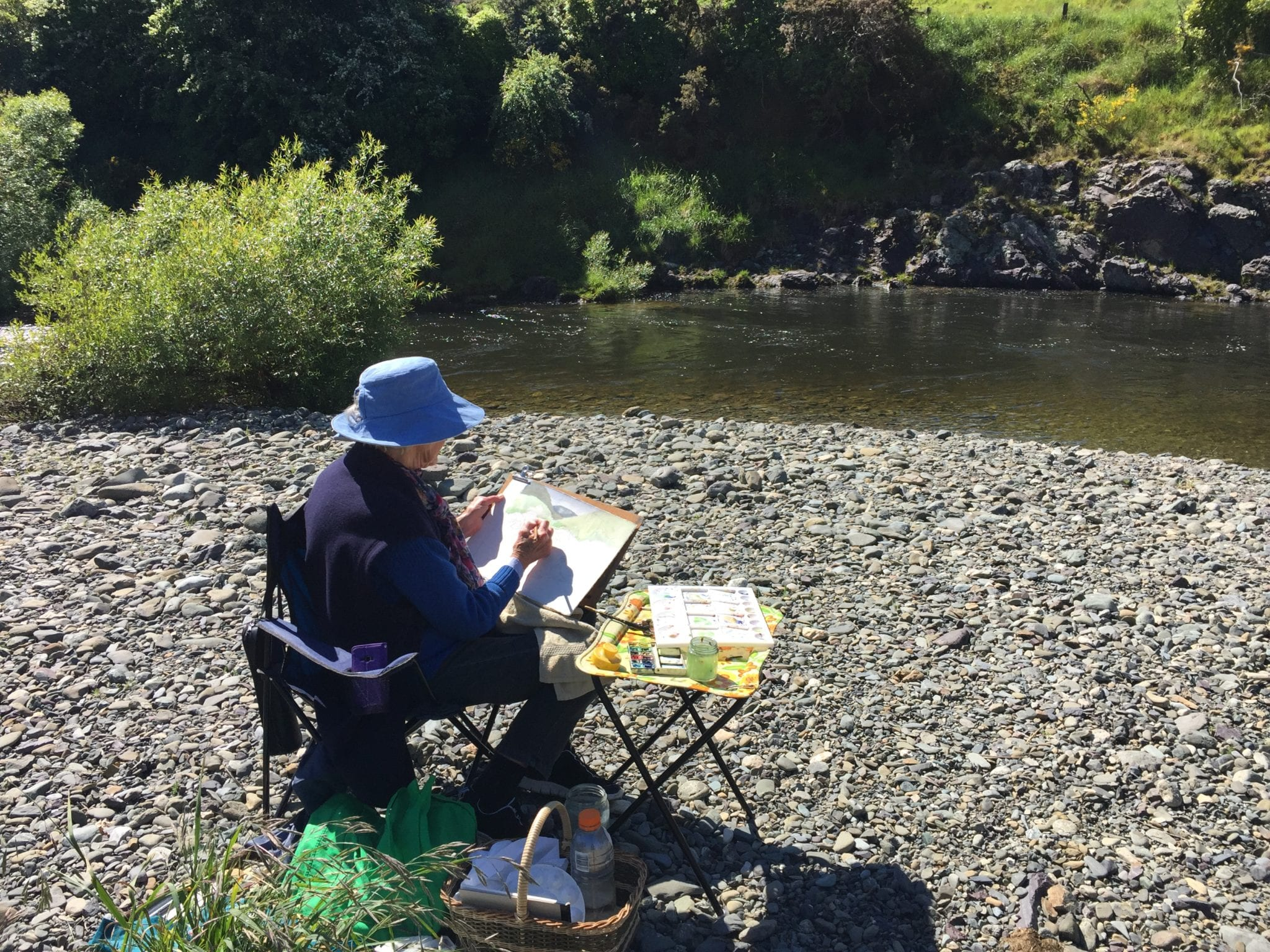Plein Air Painting, 5th February 2020, Bush Reserve, Aniseed Valley