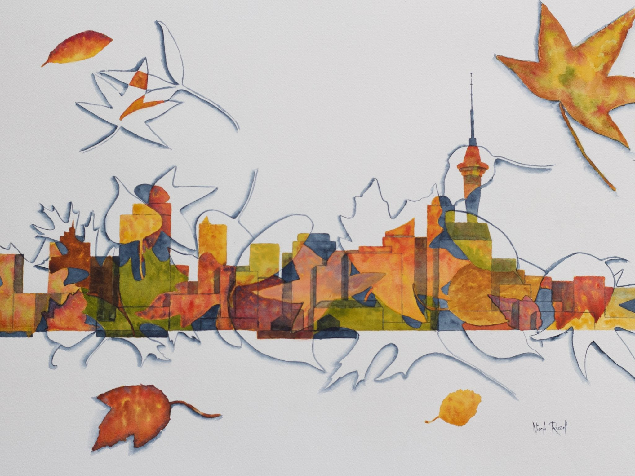 Autumn In The City – Test Paintings And Transfer